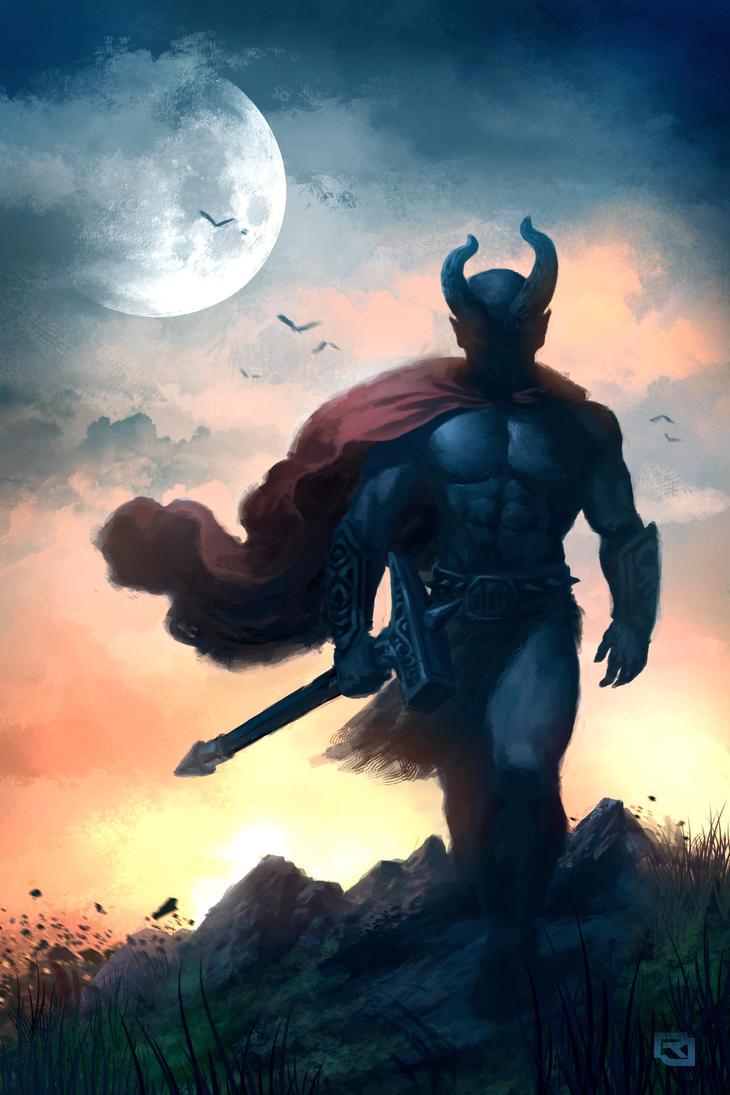Horn Headed Warrior by Rob-Joseph