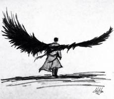 Castiel wings sketch