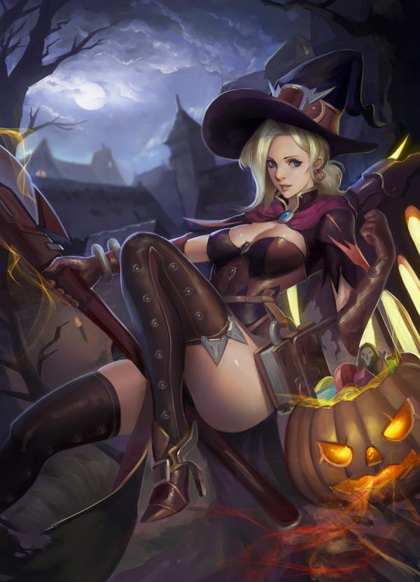 Halloween Mercy by phamoz on DeviantArt