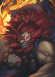 Street Fighter 5 - Akuma by phamoz