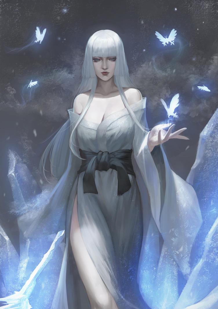 blue anime girl wallpaper