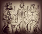 Coronation of King Edward I and Queen Eleanor by Magic-Gerbil
