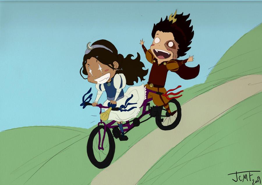 Zutara - Tandem Fandom Bicycle by justcallmefaye