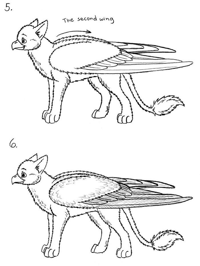 How to draw wings - resources by Fan-the-little-demon on ...  Folded Bird Wings