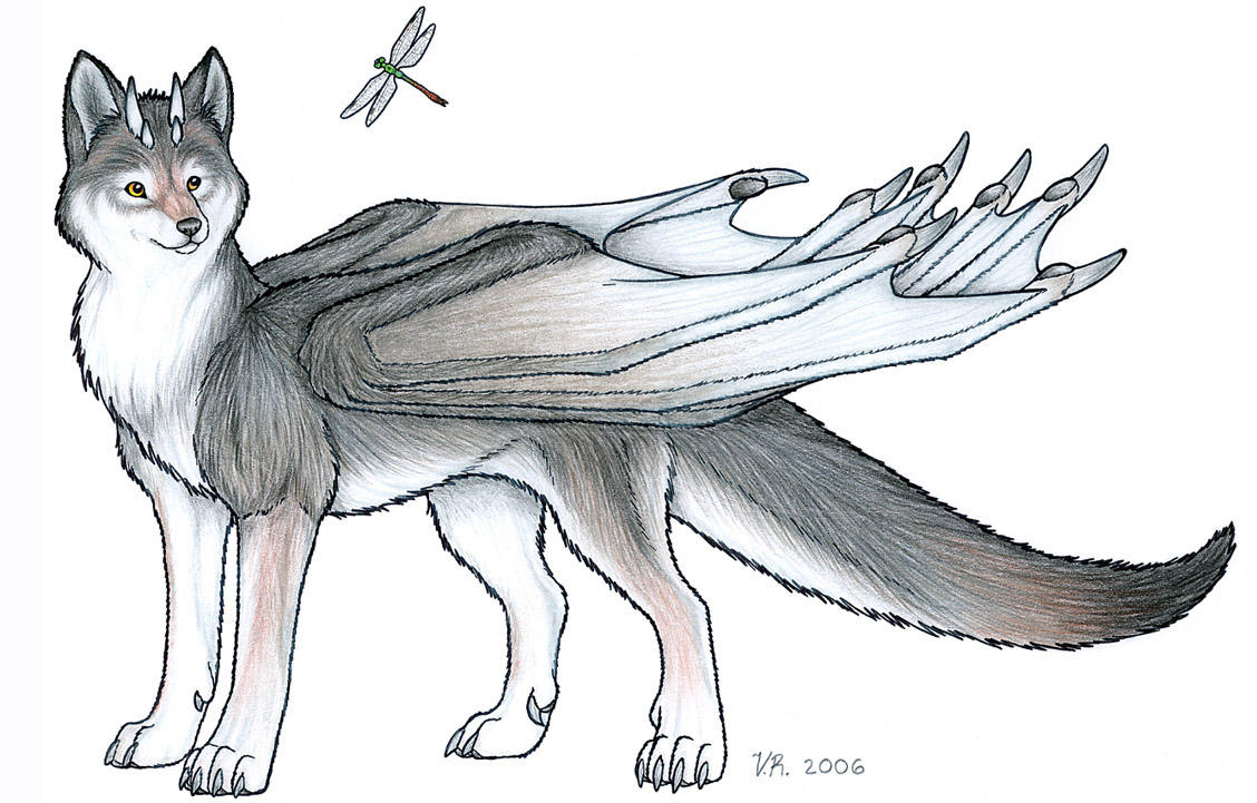 Wolf Dragon By Veroramos How To Draw