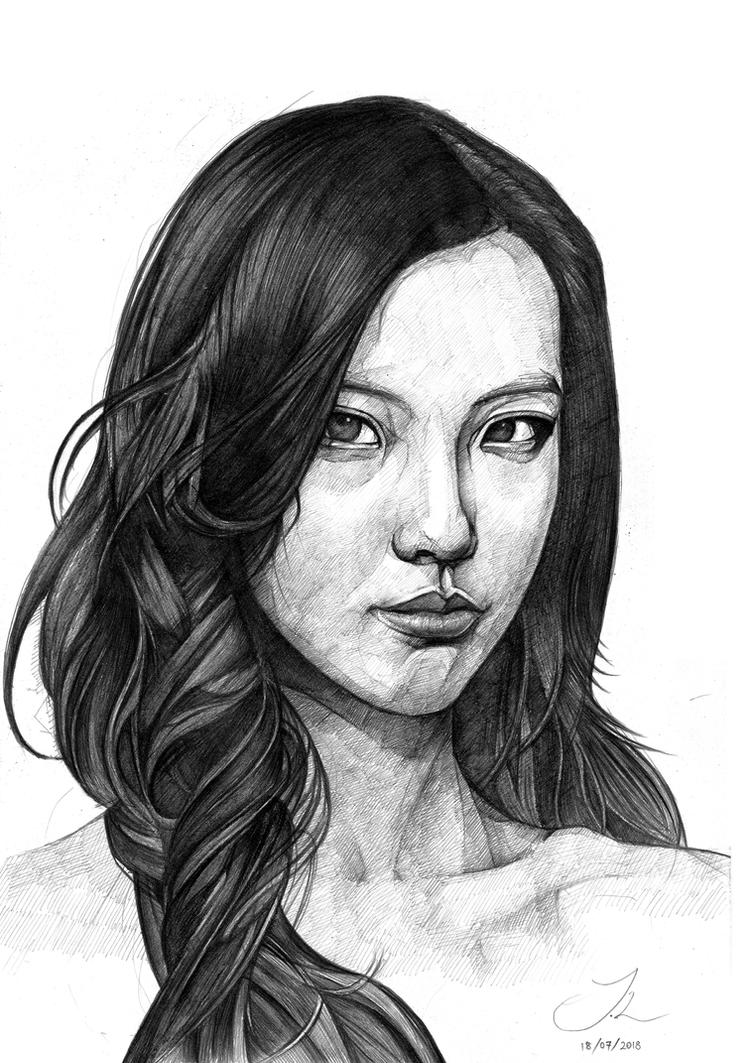 Pencil portrait by JackXYZ