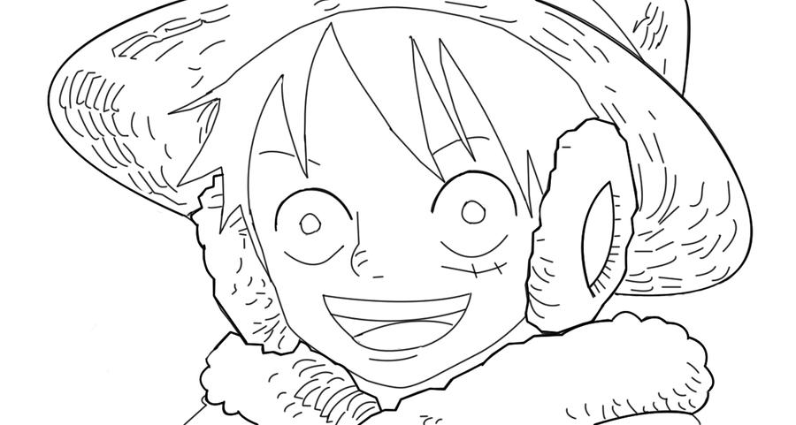 Luffy Lineart : Luffy lineart by richy on deviantart