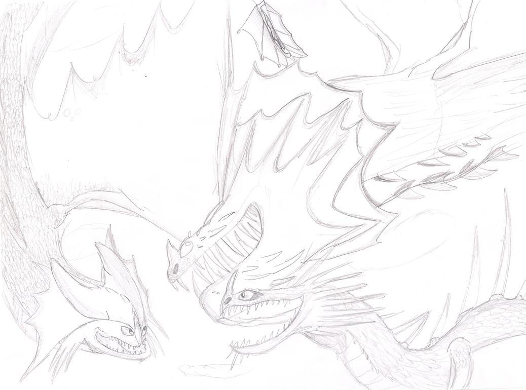 Screaming Death Dragon Coloring