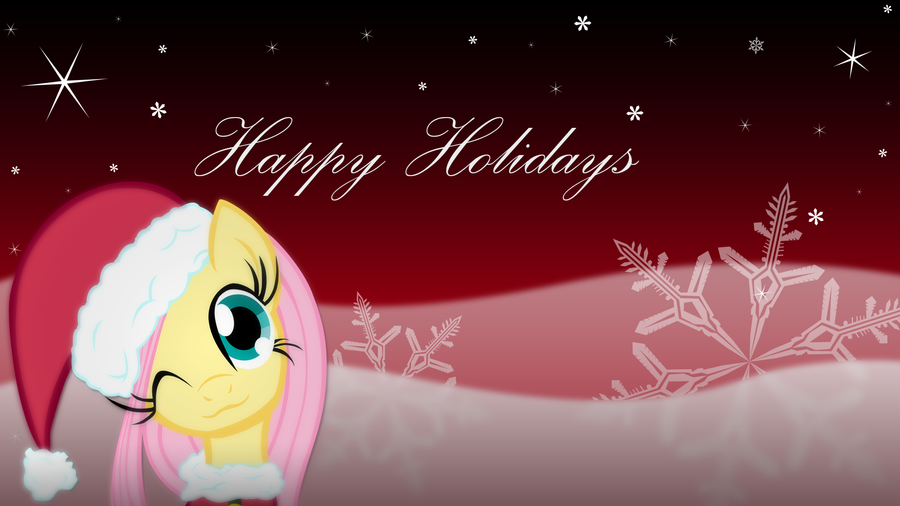 Happy Holidays from Fluttershy! by rmc008