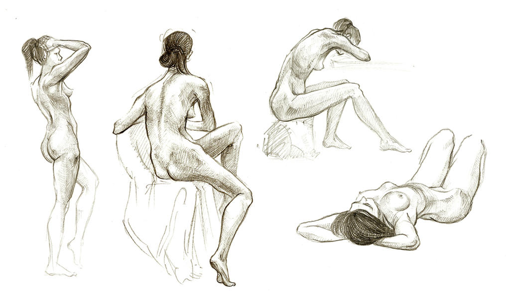 Line Drawing Female : Female figure sketch drawing by alejandro sanchez