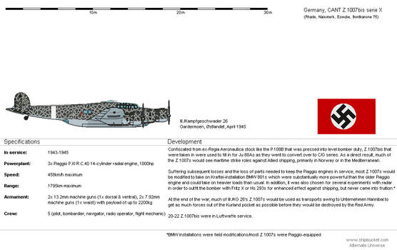 CANT Z.1007bis serie X [DE-AH]