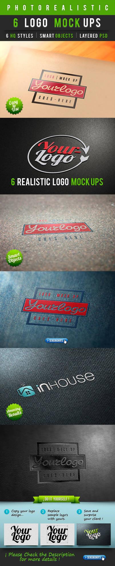 6 Photorealistic Logo Mock-Ups Vol.1 by Dee-A