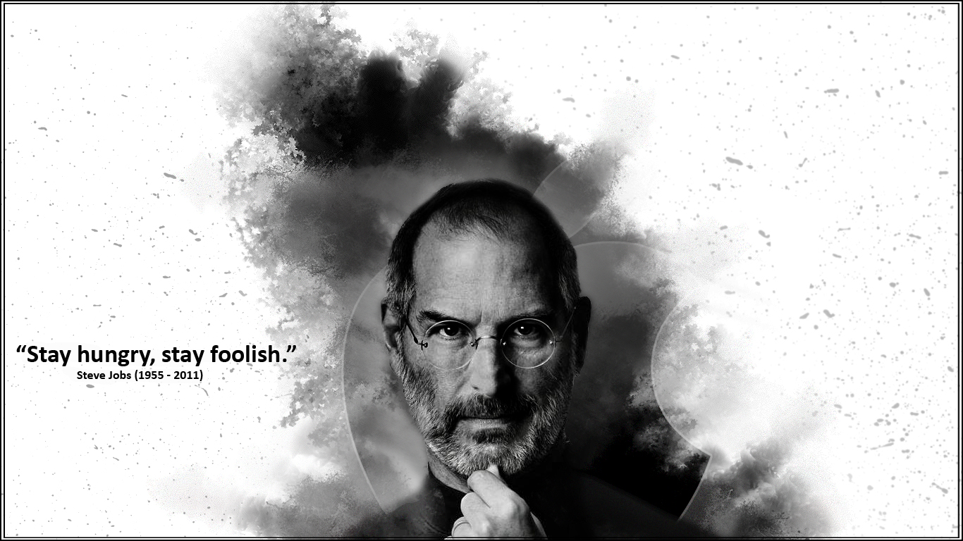 39 stay hungry stay foolish 39 bw by wekyx on deviantart - Steve jobs wallpaper download ...