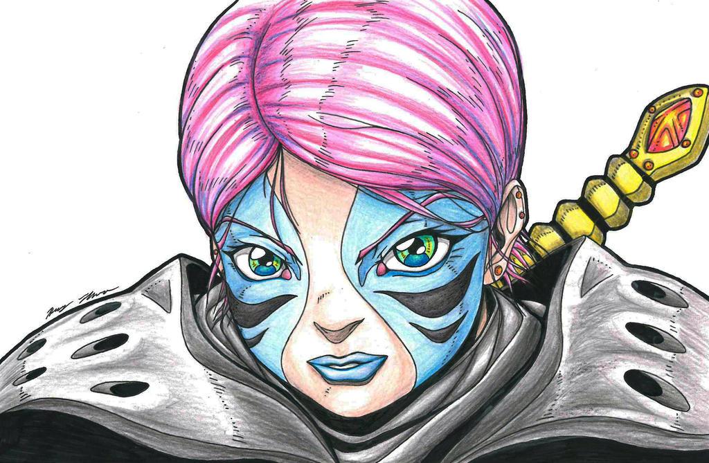 Warrior Girl by HTanimation