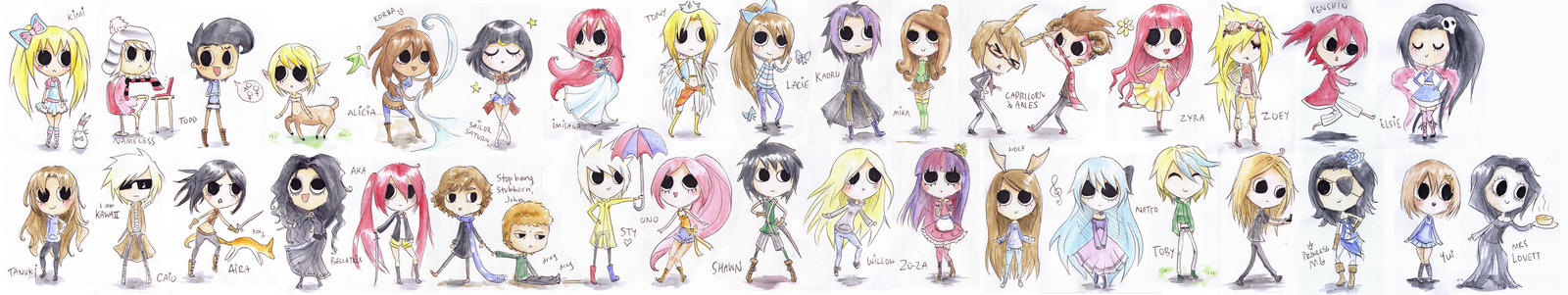 Chibi Gifts! by lady-leliel