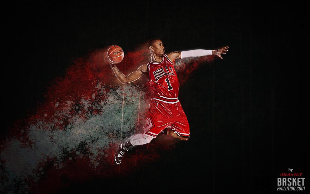 derrick rose wallpaper 3d