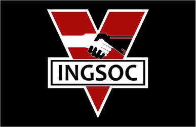 INGSOC party Flag 1984 movie version by ZFShadowSOLDIER