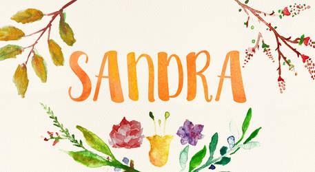 Sandra Watercolor Name Art