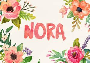 Nora Watercolor Name Art