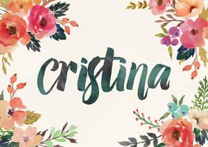 Cristina Watercolor Name Art