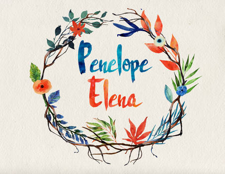 Penelope Elena name art