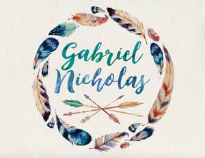 Gabriel Nicholas name art