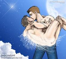 SPN Dean-Cas 'paradise kiss' by noji1203