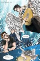 Supernatural Dean/Castiel : Angiolino musicante by noji1203