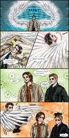 Supernatural gag manga : Castiel Operation Love by noji1203