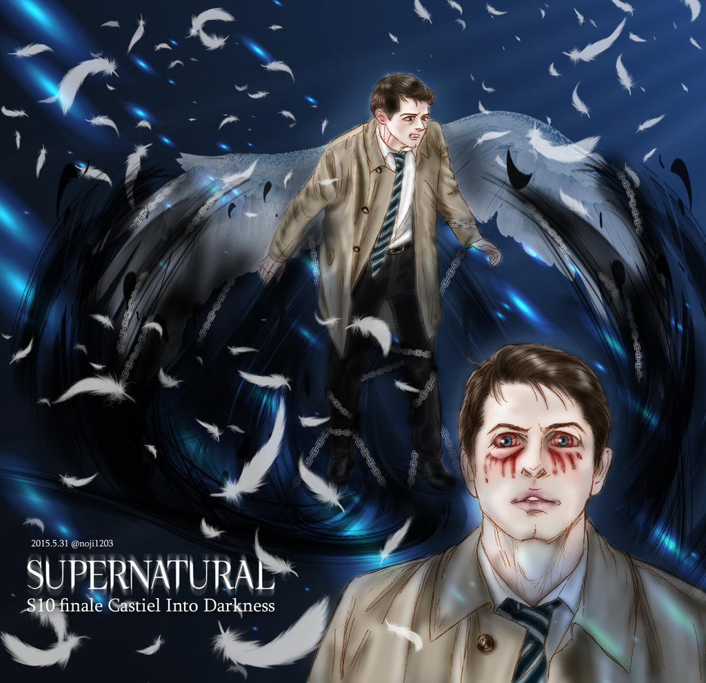 Supernatural S10 finale Castiel Into Darkness by noji1203