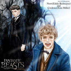 Fantastic Beasts fanart : Newt and Credence