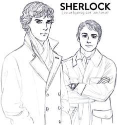 SHERLOCK line art