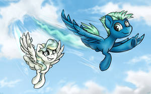 Flying with your friend (+Speed Paint) by GaelleDragons