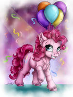 The Pink Party Pony (+speedpaint) by GaelleDragons