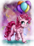 The Pink Party Pony (+speedpaint)