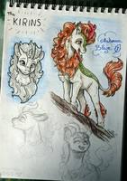 Autumn Blaze sketches by GaelleDragons