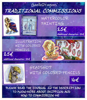 [CLOSED] 2019 Traditional Commissions Chart