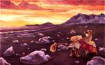 [Commission] One last sunset (+SPEEDPAINT)