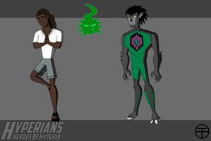 Hyperians: Garret Rayfield/Wolf Blade and Roth by Tim-Solomon