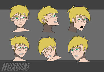 Hyperians: Jeremy Facial Expressions