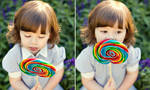 with lollipop