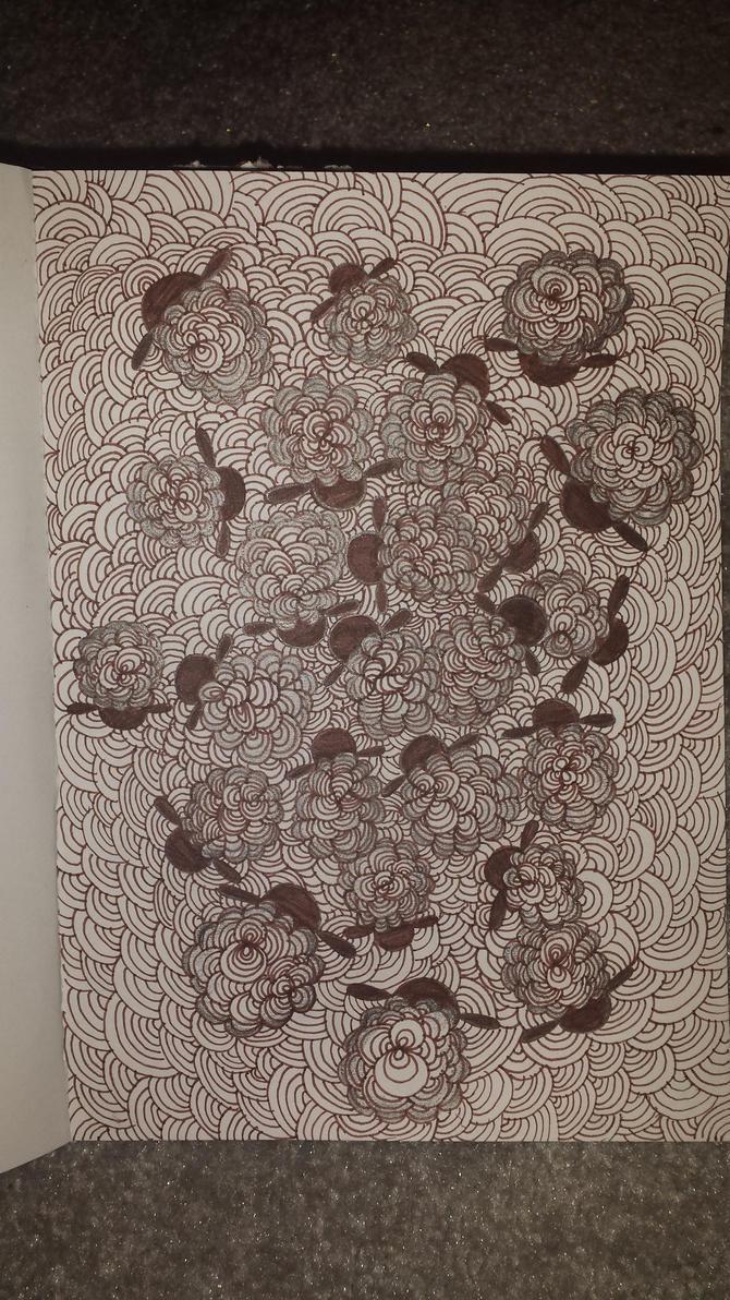 Sheep zentangle by Hazey1988