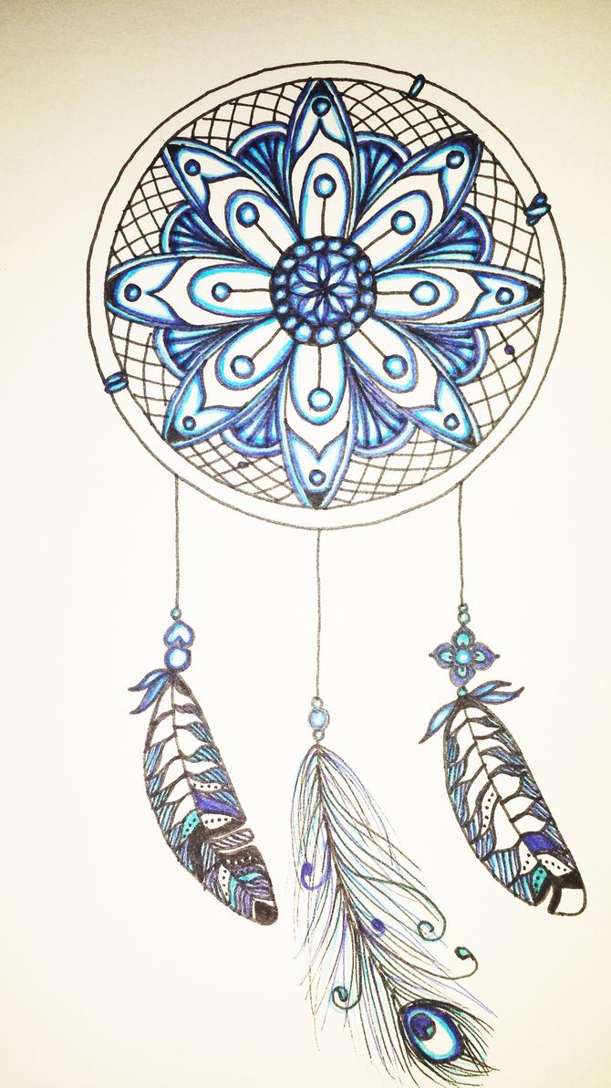 Dreamcatcher zentangle by Hazey1988
