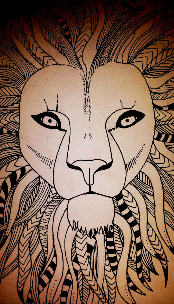 Tribal Lion by Hazey1988