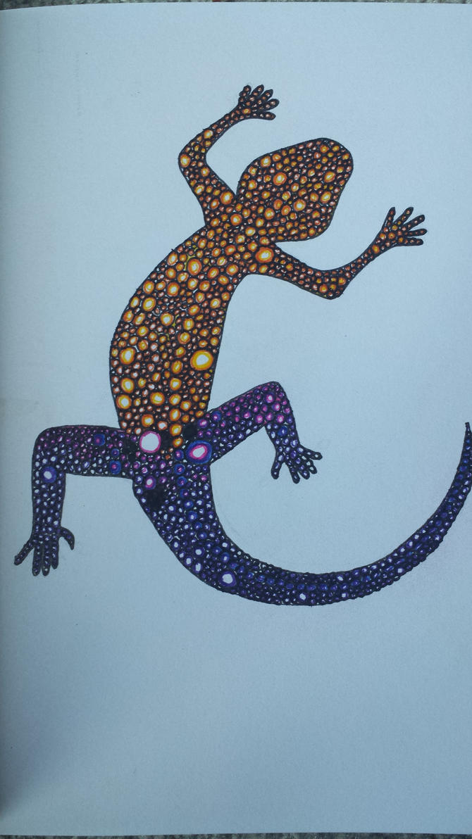 Zentangle Lizzard by Hazey1988