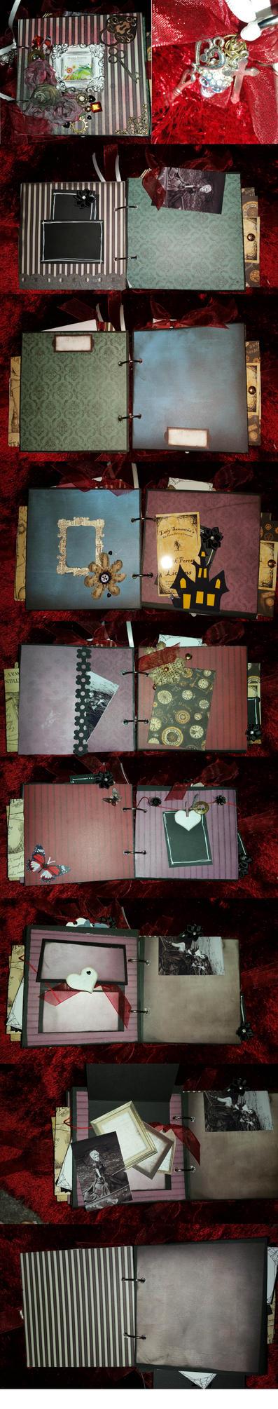 Gothic Scrapbook 6x6 Mini Album/Journalling by Hazey1988