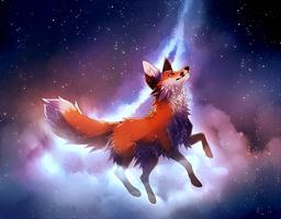 among the stars.