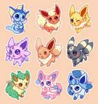 chibi eeveelution stickers!!
