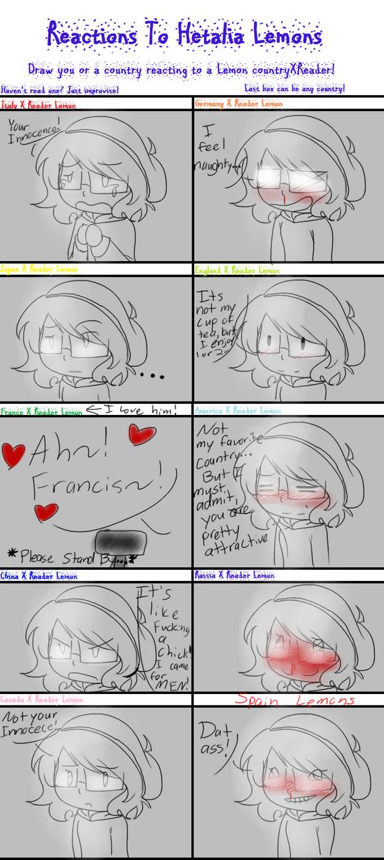 Hetalia Lemon Reactions Meme by AlucardFTW5 on DeviantArt