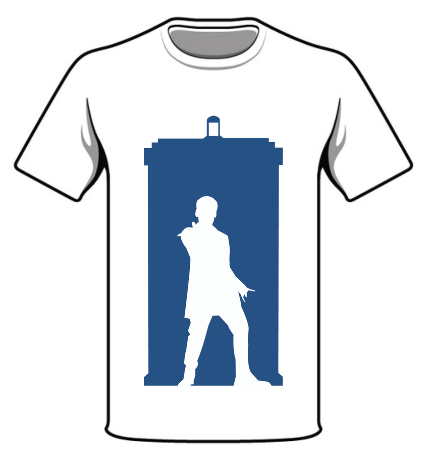 TARDIS And 12TH Doctor Design On T-shirt Template by ...